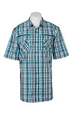 Ariat Rebar Men's Larkspur Teal Plaid S/S Work Shirt