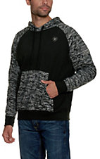 Ariat Men's Patriot Black Digi Camo Hoodie