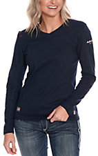 Ariat Work FR Women's Navy HRC2 Polartec L/S Flame Resistant Shirt