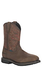 Ariat Men's Oily Distressed Brown Sierra Delta H2O Waterproof Steel Wide Square Toe Work Boots