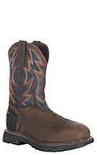 Ariat Men's Oily Distressed Brown Catalyst Thunder H2O Waterproof Steel Wide Square Toe Work Boots