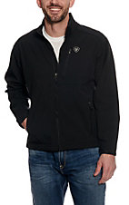 Ariat Men's Logo Softshell Black Jacket