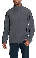 Ariat Men's Vernon Charcoal Heather Bonded Softshell Jacket