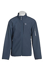 Ariat Men's Vernon 2.0 Navy Grid Softshell Jacket