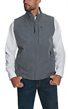 Ariat Men's Charcoal Heather Vernon Bonded Soft Shell Vest
