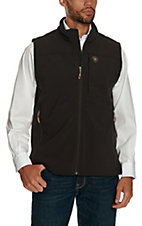 Ariat Men's Vernon Coffee Bean Softshell Vest