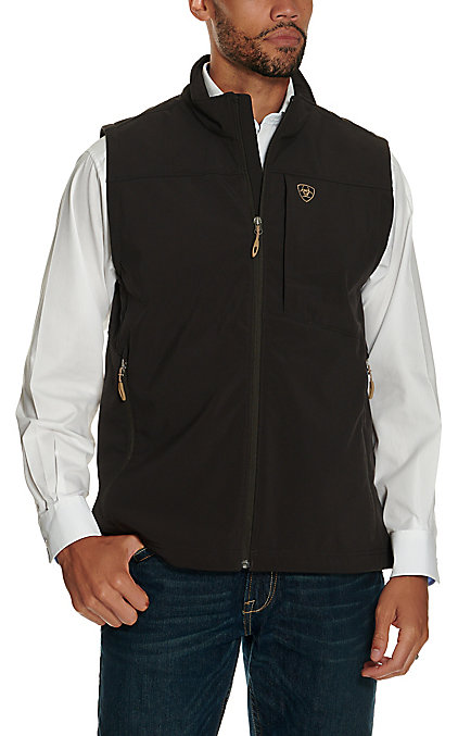 Ariat Men's Vernon Coffee Bean Softshell Vest by Ariat