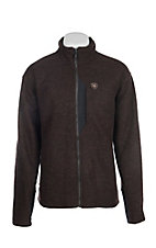Ariat Men's Espresso Heather Bowdrie Bonded Full Zip Jacket