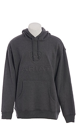 Ariat Men's Charcoal Branded Pull Over Hoodie