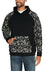 Ariat Men's Flame Resisant Patriot Black Digi Camo Hoodie