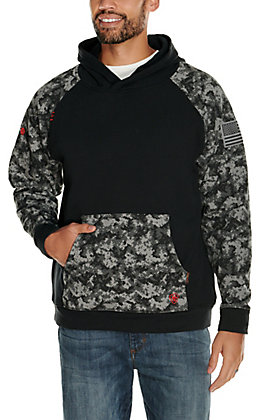 Ariat Men's Black Digi DuraStretch Patriot FR Work Hoodie