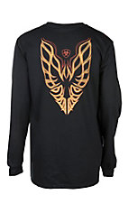 Ariat Men's Black Firebird Long Sleeve Graphic FR Work T-Shirt