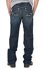 Ariat Men's M4 Adkins Titanium Wash Cavender's Exclusive Low Rise Bootcut FR Work Jeans