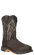 Ariat Men's Workhog XT Dare Bruin Brown and Crazy Black Wide Square Carbon Safety Toe Work Boot