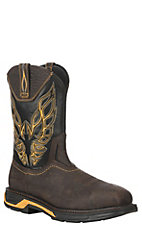 Ariat Men's Workhog XT Firebird Brown and Black Wide Square Carbon Safety Toe Work Boots