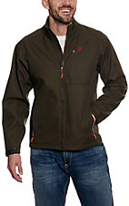 Ariat Men's Cavender's Exclusive Logo Softshell Walnut Jacket