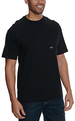 Ariat Men's Rebar Cotton Strong Black Short Sleeve T-Shirt