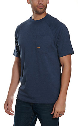 Ariat Men's Rebar Cotton Strong Navy Blue Short Sleeve T-Shirt