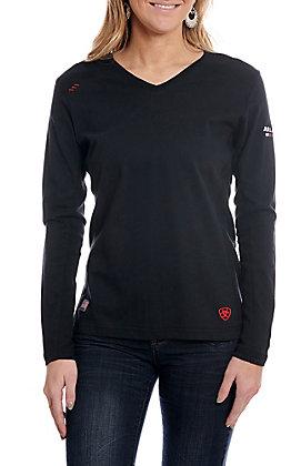 Ariat Women's Black AC Long Sleeve FR Work Shirt