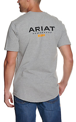 Ariat Men's Rebar Cotton Strong Heather Grey Short Sleeve T-Shirt