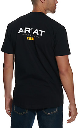 Ariat Men's Rebar Cotton Strong Black Logo Short Sleeve T-Shirt