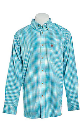 Ariat Men's FR CAT2 Brent Bluebird Plaid Work Shirt - Big & Tall