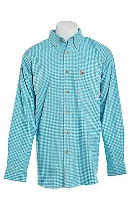 Ariat FR Men's Bluebird Plaid Long Sleeve Work Shirt