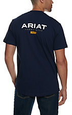 Ariat Men's Navy Rebar CottonStrong Logo T-Shirt