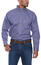 Ariat Men's Flame Resistant Cobalt Liberty Print Work Shirt