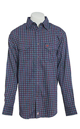 85771ebb Ariat Men's Flame Resistant Navy Plainview Snap Work Shirt | Cavender's