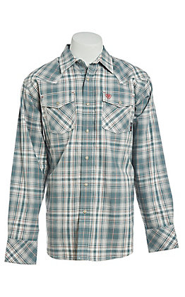Ariat Men's Noble Retro Snap Plaid Work Shirt