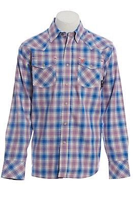 Ariat Orion FR Men's Retro Multi Plaid Long Sleeve Work Shirt
