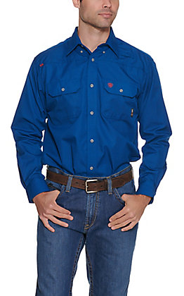 Ariat Men's Flame Resistant Royal Blue Featherlight Work Shirt