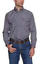 Ariat Men's Flame Resistant Gunmetal Featherlight Work Shirt
