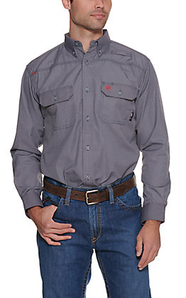 Ariat Men's Gunmetal Featherlight FR Work Shirt