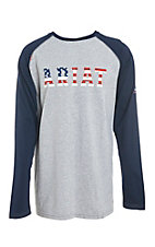 Ariat Men's CAT2 Navy Blue USA Baseball FR Shirt