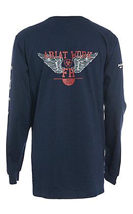 Ariat Men's FR Ascend Logo Long Sleeve Work T-Shirt