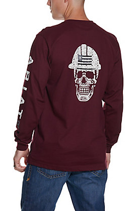 Ariat Men's Malbec Roughneck Skull Logo Long Sleeve FR T-Shirt - Big & Tall