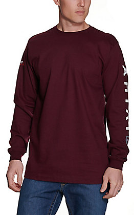 Ariat Men's Malbec Roughneck Skull Logo Long Sleeve FR T-Shirt