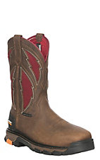 Ariat Men's Intrepid VentTEK Brown and Red Composite Toe Work Boot