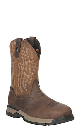 Ariat Work Men's Rebar Flex Brown Square Toe Work Boots