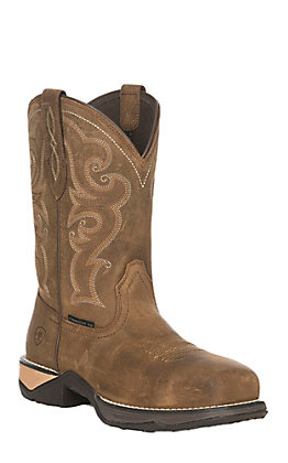 Ariat Anthem Women's Chipmunk Brown Square Composite Toe Work Boots