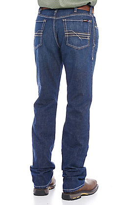 Ariat Work M4 Men's Platinum Dark Wash DuraStretch Low Rise Straight Leg FR Men's Jeans