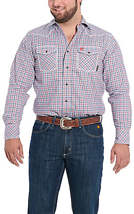 Ariat Men's Hartson Retro Plaid Long Sleeve FR Work Shirt