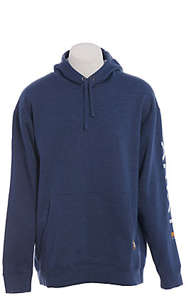 Ariat Rebar Men's Navy 10 OZ Graphic Work Hoodie Pullover