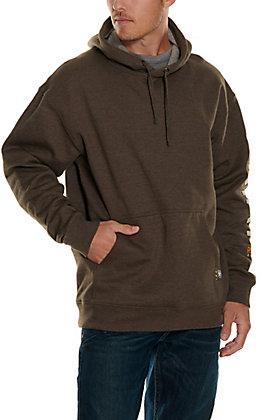 Ariat Rebar Men's Brown 10 OZ Graphic Long Sleeve Work Pullover Hoodie
