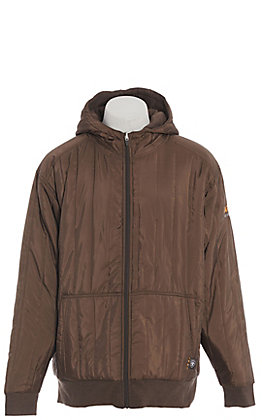Ariat Rebar Men's Brown Reversible Cold Weather Insulated Work Jacket