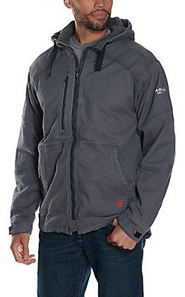 Ariat Men's Iron Grey DuraLight Stretch Canvas FR Work Jacket
