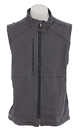 Ariat Men's Work FR Grey Insulated Duck Canvas Vest