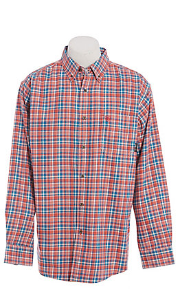 Ariat FR Men's Cherry Bark Plaid Long Sleeve FR Work Shirt
